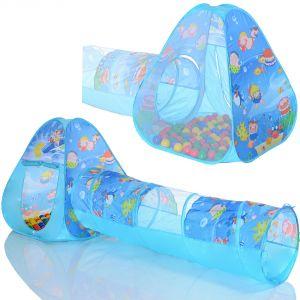 LCP Kids Tente de jeu Pop Up Ocean avec tunnel et 100 balles