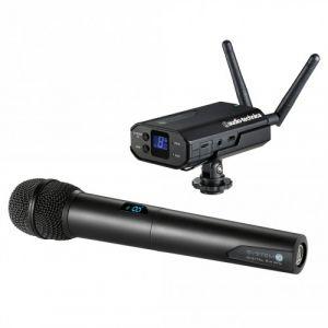 Audio Technica Audio-Technica ATW-1702 Système numérique portable pour Caméra avec Microphone à main Noir