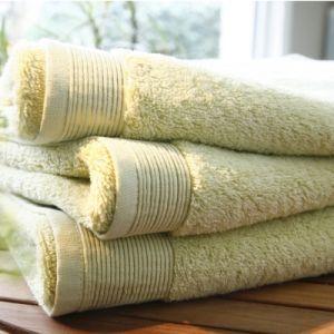 Blanc des vosges Eponge unie Gant Coton Tilleul 16x22 cm