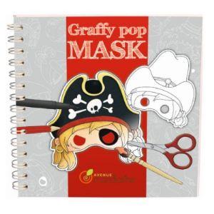 Avenue mandarine Carnet de coloriage Graffy Pop Mask : Pirates et Cow-boys