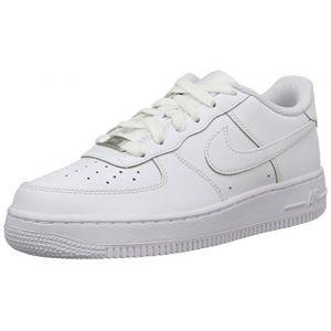 Nike Air Force 1 (Gs), Chaussures de sport garçon, (Blanco/Blanco), 37.5
