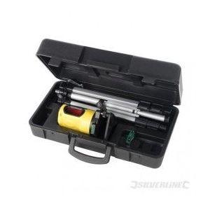 Silverline 245028 - Coffret niveau laser automatique portée de 10 m