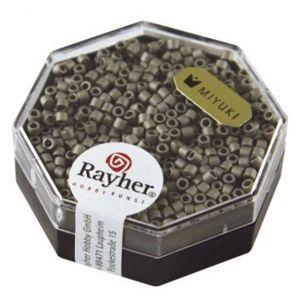 Rayher Perles Miyuki Delica 10/0 métallic dépoli gris acier - DMB 321