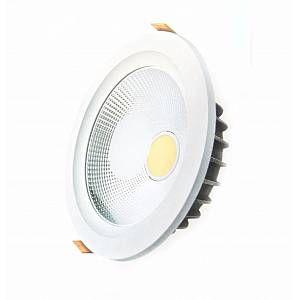 Silamp Downlight Spot LED COB Rond 40W Ø235mm - couleur eclairage : Blanc Neutre 4000K - 5500K