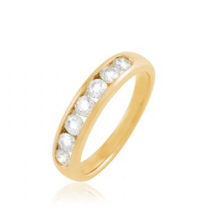 Histoire d'Or Demi-alliance Or Jaune Giulia Diamants