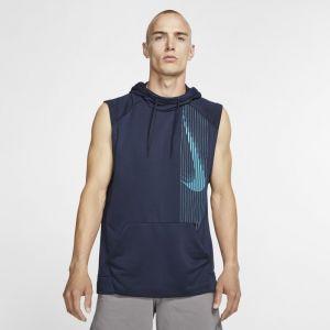 Nike Sweatà capuche de training sans manches Dri-FIT pour Homme - Bleu - Couleur Bleu - Taille S