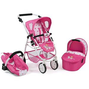 Bayer Chic 2000 Poussette poupée EMOTION ALL IN poney princesse rose/rose vif