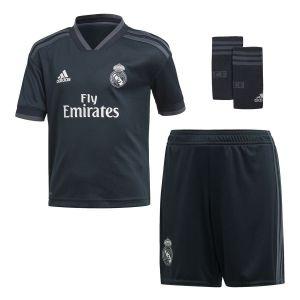 Adidas Real Madrid Maillot Extérieur 2018/19 Mini-Kit Enfant - Bleu - Taille 92cm