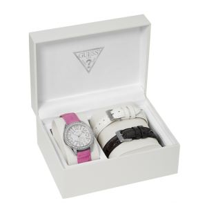 Guess W11130L1 - Coffret montre pour femme avec 3 bracelets
