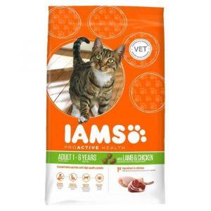 IAMS Croquettes à l'agneau et au poulet pour chat adulte - 1,5kg