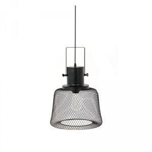 AC-Déco Suspension luminaire filaire en forme de cloche - L 31 x l 31 x H 23 cm - Noir - Livraison gratuite