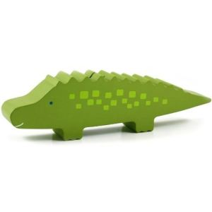 Pearhead 40005 - Tirelire décorative Crocodile en bois