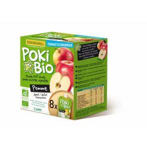 Danival Poki Bio - 8 compotes de pomme