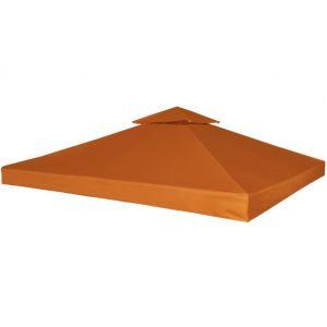 VidaXL Toile de rechange 3 x 3 Terre Cuite 270 g/m² pour pergola Gazebo
