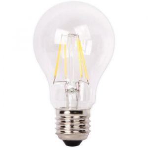 XQ-Lite Ampoule LED filament LED globe E27 4W équivalence 37W - Culot E27 - 4W équivalent à 37W - Couleur blanc chaud - 2700K - 420lm - Durée de vie : 15000h.