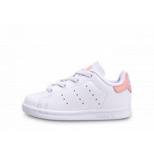 Adidas Stan Smith El I, Chaussures de Gymnastique Mixte bébé, Blanc FTWR White/Glow Pink, 23 EU