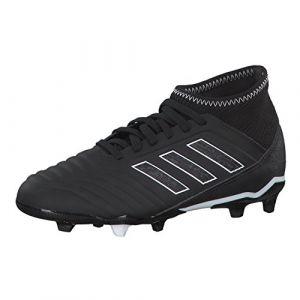 Adidas Predator 18.3 FG J, Chaussures de Football Mixte Enfant, Noir (Negbás/Ftwbla 000), 37 1/3 EU