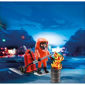 Playmobil 5367 City Action - Pompier avec combinaison de feu