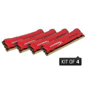 Kingston HX318C9SRK4/32 - Barrette mémoire HyperX Savage 32 Go (4 x 8 Go) DDR3 1866 MHz XMP CL9