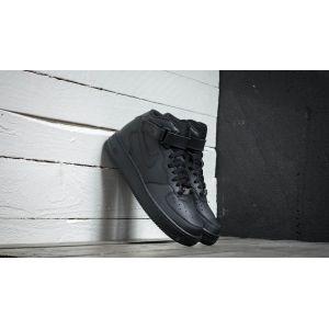 Image de Nike Air Force 1 Mid (Gs), Chaussures de basketball mixte enfant, Noir, 38 EU