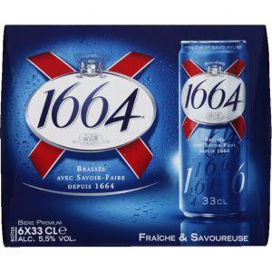 1664 Bière blonde, 5,5% vol. - Les 6 canettes de 33cl