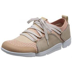 Image de Clarks Tri Amelia, Sneakers Basses Femme, Rose (Pink Combi), 40 EU