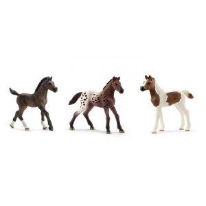 Schleich Figurines de chevaux poulain (arabe, pintabian, appaloosa)
