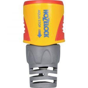 Hozelock 2055 6000 Raccord Aquastop Diamètre: 12,5 et 15mm, Jaune/Gris, 20x17x13 cm
