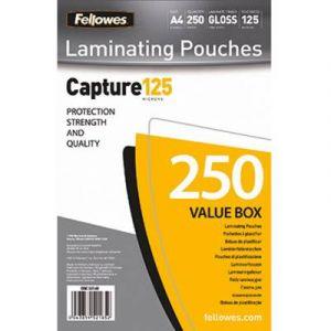 Fellowes 5314903 - Pack de 250 pochettes Capture125, format A4, 2 x 125µ