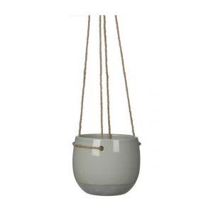 MICA Pot à suspendre ronde Resa gris clair 13,5 xØ16,5 cm