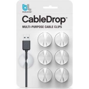 Bluelounge câbleDrop Mini - Fixation/maintien câbles Blanc