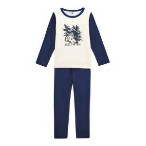 Petit Bateau PYJALONG, Ensemble de Pyjama Garçon, Multicolore (Medieval/Marshmallow 01), Taille Fabricant: 2A 2 Ans