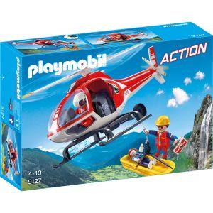 Playmobil 9127 - City Action : Hélicoptère de sauveur de montagne