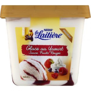 La laitière Glace au yaourt et fruits rouges - Le pot de 430g