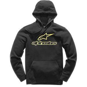 Alpinestars Sweat capuche ALWAYS noir/jaune - XL