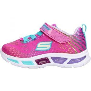 Skechers Scarpe Sneakers S Lights Bambine Ragazze Rosa 10959N/NPMT-NEON/PINK/MUL