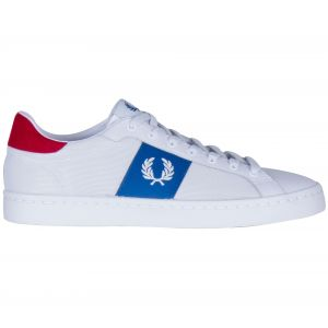 Fred Perry Baskets basses LAWN LEATHER / MESH blanc - Taille 40,41,42,43,44,45