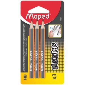 Maped 3 mini crayons pour compas - crayon HB