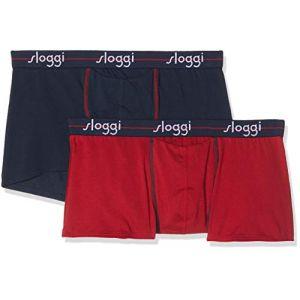 Sloggi Lot de 2 boxers Start avec ouverture Marine / Rouge - Taille L;M;S;XL;2XL