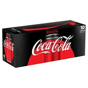 Coca-Cola Zero frigo pack - Les 10 canettes de 33cl