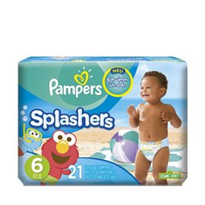 Pampers Splashers taille 6 - 21 maillots de bain jetables
