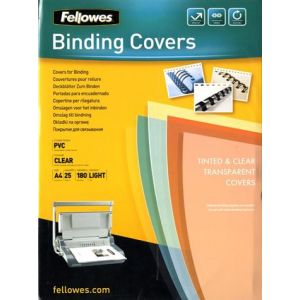 Fellowes 5380001 - Etui de 25 couvertures PVC 180µ, A4, transparent