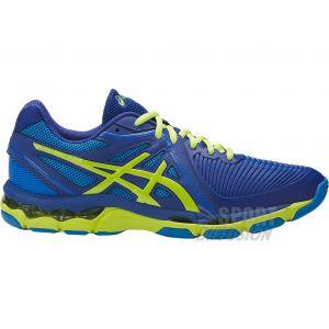 Asics Chaussures Indoor Gel Netburner Ballistic Homme Bleu/Vert