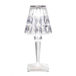 Kartell Lampes à poser d'extérieur BATTERY-Lampe baladeuse LED d'extérieur rechargeable H22cm Transparent