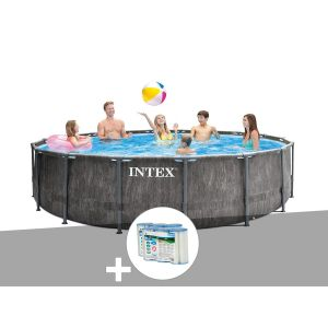 Intex Kit piscine tubulaire Baltik ronde 5,49 x 1,22 m + 6 cartouches de filtration