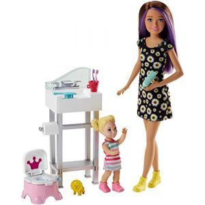 Mattel Poupée Barbie - Coffret Baby-Sitter