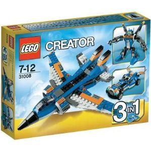 Lego 31008 - Creator 3 en 1 : L'avion de chasse