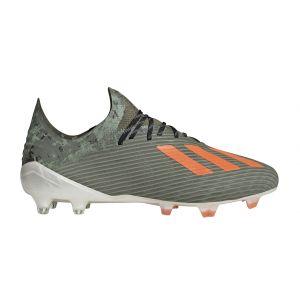 Adidas X 19.1 FG, Chaussures de Football Homme, Vert Orange Fluo Blanc Craie, 44 EU