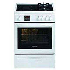 Brandt KIP1012 - Cuisinière mixte 2 brûleurs gaz et 2 foyers induction avec four électrique