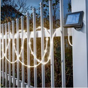 Esotec Lampe décorative solaire blanc chaud transparent